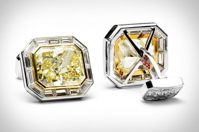Jacob-Co.-Canary-Diamond-cufflinks-1