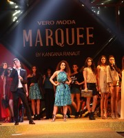 L-R - Zarir Warden, lead signer from the band The Other People, Actress turned designer Kangana Ranaut at the launch of VERO MODA MARQUEE
