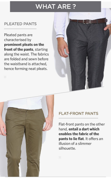 PLEATED VS FLAT-FRONT PANTS: KNOW THE DIFFERENCE! - StyleRug