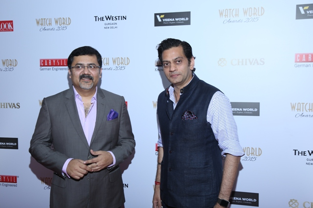 Mitrajit Bhattacharya, President & Publisher, Chitralekha Group & Creator of Watch World Awards & Fashion Designer Ragvendra Rathore